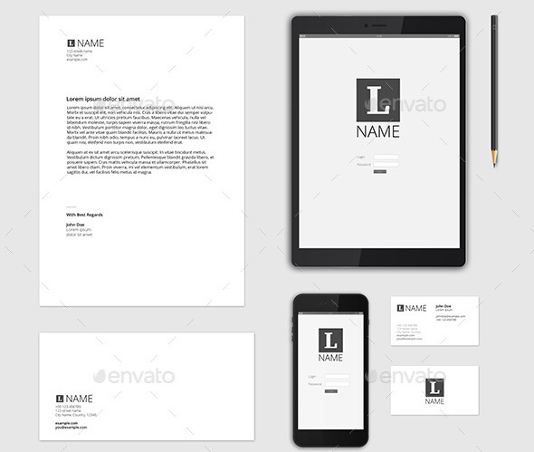 20 Letterhead Templates Mockups That Will Save You Time: 35 Cool Stationary Mockup Templates