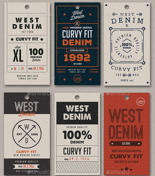 20 Cool Product Tag & Label Design Templates